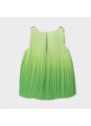 Mayoral Mayoral Kiz Bebek Yazşık Pileli Elbise Yeşil 20856 Yeşil